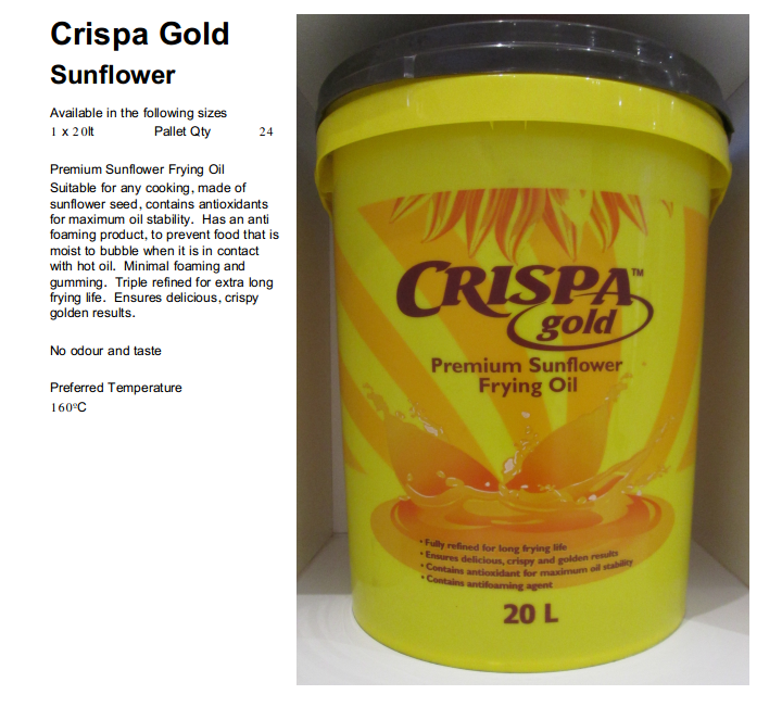 Crispa Gold cooking oil