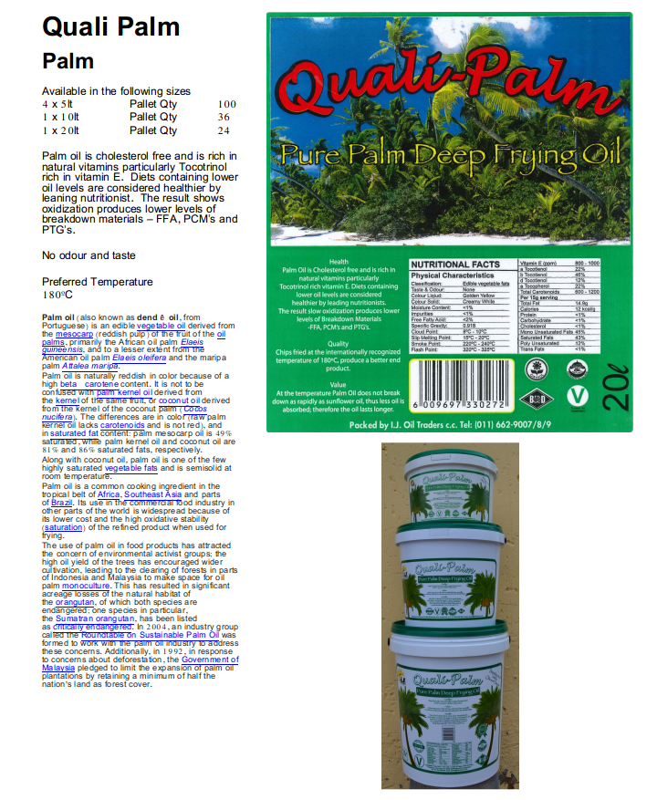 Pure Palm cooking oil